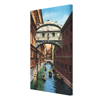 Replica VIntage Image, Venice 1910 Stretched Canvas Print