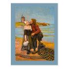 Replica Vintage postcard, Kisses by the sea Postcard
