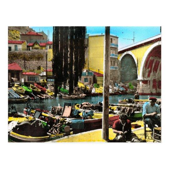 Replica Vintage  postcard, Marseille, Fishermans Q Postcard
