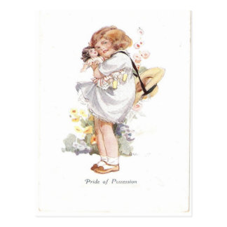 Replica Vintage Pride of possession girl doll Post Card