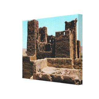 Replica Vintage Spain  Quarzazate Fortress Canvas Print