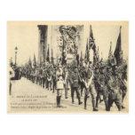 Replica Vintage Victory parade, Paris 14 July 1919 Postcards