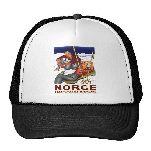 Replica Vintage winter sports, ski poster Hat