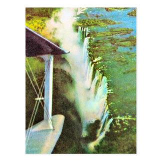 Replica  Vintage Zambezi River,  Victoria Falls Postcard