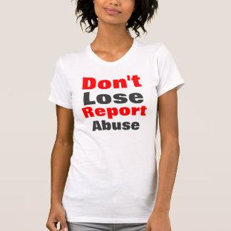 Report abuse women's t-shirt