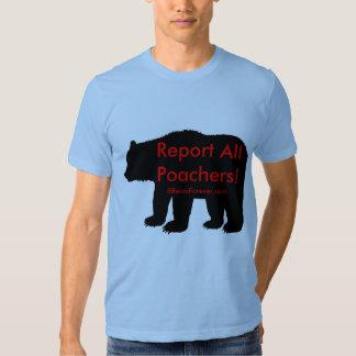Report all Poachers Shirts