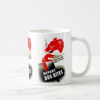 Report Dog Bites Basic White Mug