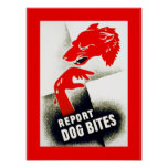Report Dog Bites Poster