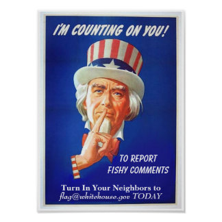 Report Fishy Comments Poster