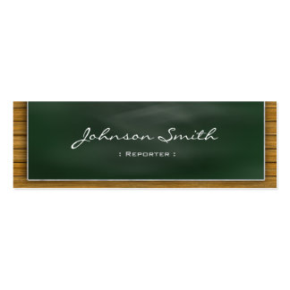 Reporter - Cool Blackboard Personal Pack Of Skinny Business Cards