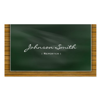 Reporter - Cool Chalkboard Double-Sided Standard Business Cards (Pack Of 100)