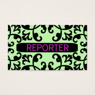 Reporter Damask Business Card