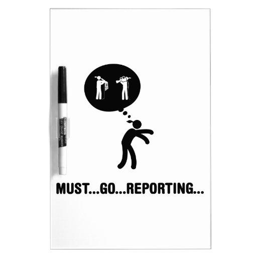 Reporter Dry Erase Whiteboards