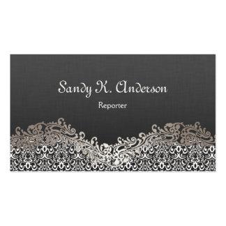 Reporter - Elegant Damask Lace Pack Of Standard Business Cards