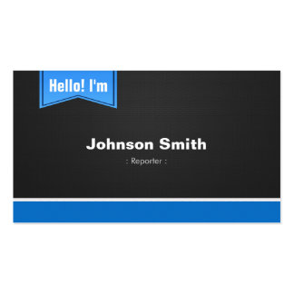 Reporter - Hello Contact Me Double-Sided Standard Business Cards (Pack Of 100)