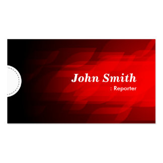 Reporter - Modern Dark Red Business Cards