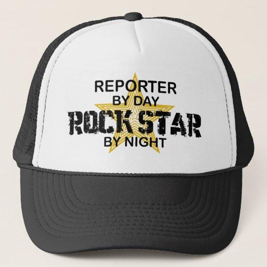 Reporter Rock Star by Night Trucker Hat