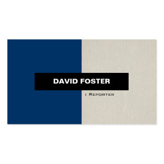 Reporter - Simple Elegant Stylish Pack Of Standard Business Cards