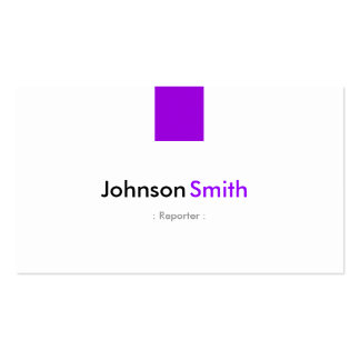 Reporter - Simple Purple Violet Pack Of Standard Business Cards