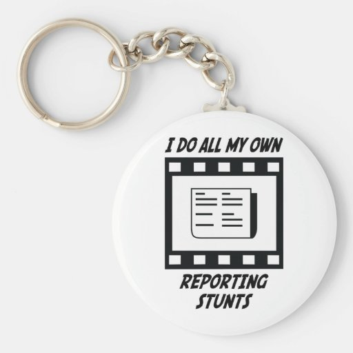Reporting Stunts Basic Round Button Key Ring
