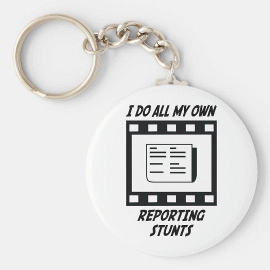 Reporting Stunts Key Ring