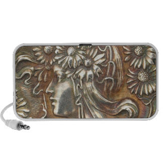 Repousse Silver Antique Jewelry Printed Speaker