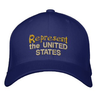 Represent the United States Cap Embroidered Hats