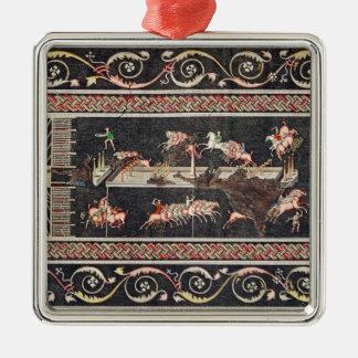 Representation of a mosaic christmas ornament