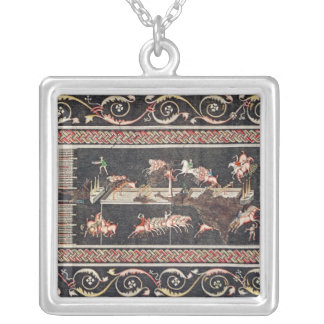 Representation of a mosaic silver plated necklace