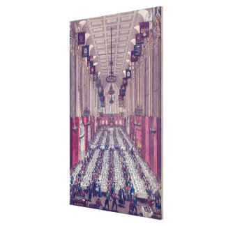 Representation of the Interior of Guildhall Canvas Print