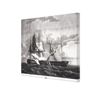 Representation of the US frigate, Canvas Print