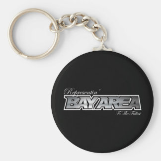 Representin' The Bay Area Basic Round Button Key Ring
