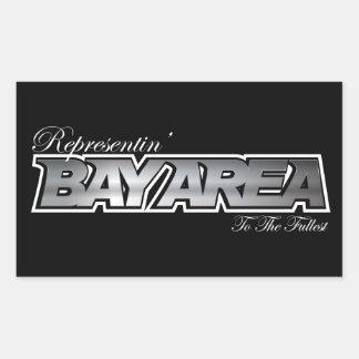 Representin' The Bay Area Rectangular Sticker