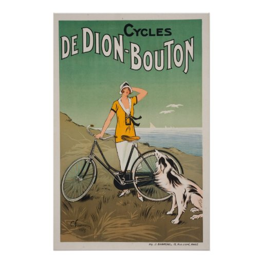 Reprint of a Vintage French Bicycle Ad Poster