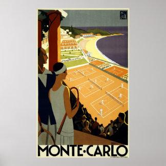 Reprint of a Vintage Monaco Tourism Poster