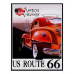 Reprint of a Vintage US Rte 66 Travel Poster