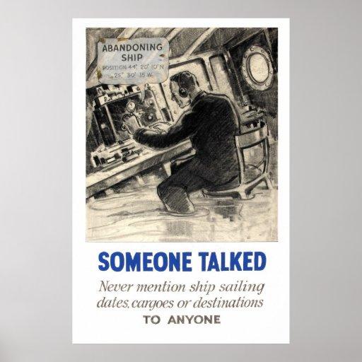 Reprint of a WWII Propaganda Poster