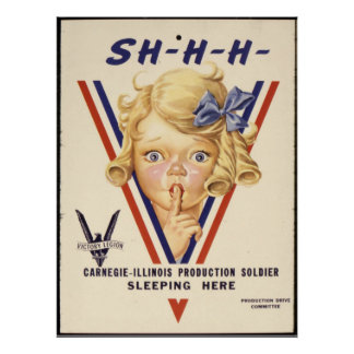 Reprint of a WWII Propaganda Poster
