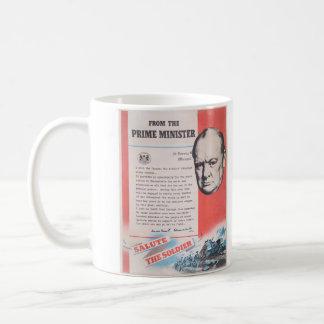 Reprint of British wartime poster. Basic White Mug