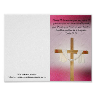 Reprintable church bulletin master template poster