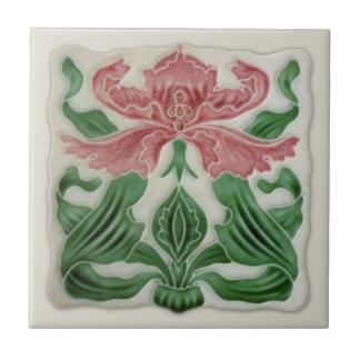 Repro English Art Nouveau H.A.Ollivant Tile c.1900