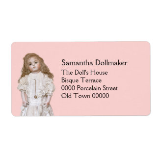 Reproduction antique doll shipping label