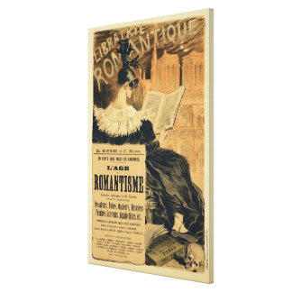 Reproduction of a poster advertising a book entitl canvas print