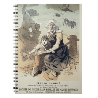 Reproduction of a poster advertising a 'Charity Pa Notebooks