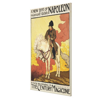 Reproduction of a poster advertising 'A New Life o Canvas Print
