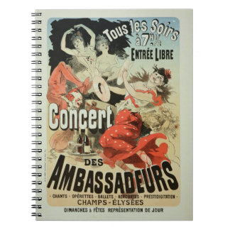 Reproduction of a poster advertising an 'Ambassado Notebooks