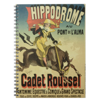Reproduction of a poster advertising 'Cadet Rousse Notebooks