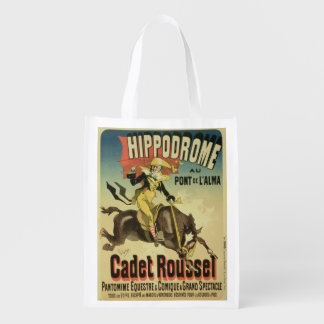 Reproduction of a poster advertising 'Cadet Rousse Reusable Grocery Bags