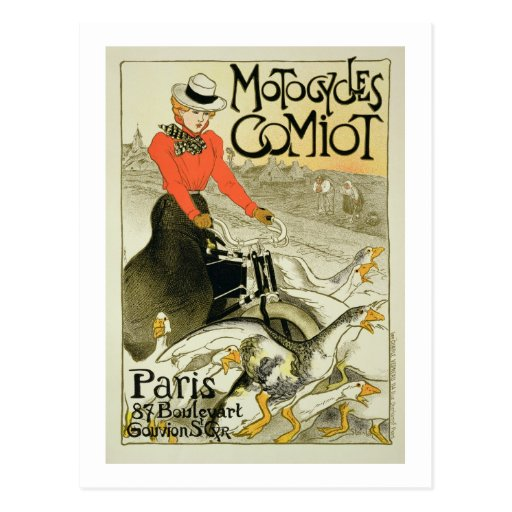 Reproduction of a Poster Advertising Comiot Motorc Post Card