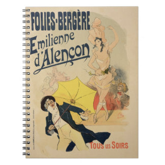 Reproduction of a poster advertising 'Emile d'Alen Spiral Notebook